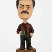 Ron Swanson Bobble Head- Brown Multi One