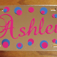 Personalized Mirror license plate car tag by Snappydotgifts