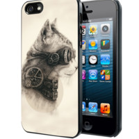 Steampunk Cat Drawing B Samsung Galaxy S3 S4 S5 Note 3 , iPhone 4 5 5c 6 Plus , iPod 4 5 case