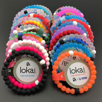 48pcs/lot ePacket Free shipping silicone lokai bracelets Unisex jewelry find your balance