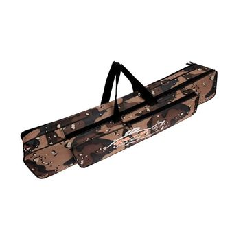 80cm Double Layer Camouflage Fishing Rod Bag Foldable Waterproof Oxford Cloth Fishing Tackle Bag Backpack