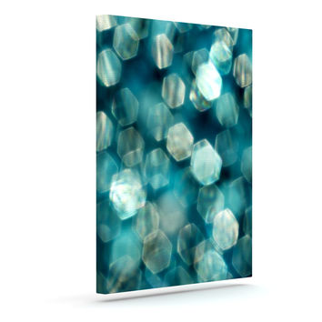 """Ingrid Beddoes """"Shades of Blue"""" Outdoor Canvas Wall Art"""
