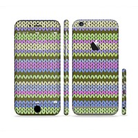 The Colorful Knit Pattern Sectioned Skin Series for the Apple iPhone 6