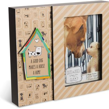 A good dog makes a house a home Picture Frame