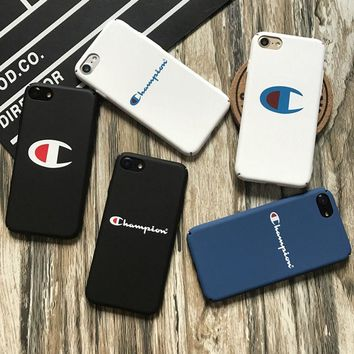 Champion Matte Hard Shockproof High Quality Case iPhone 5S 6 6S Plus 7 8 X Cover