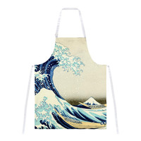 Great Wave Tsunami Japanese Painting All Over Apron