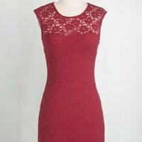 Mid-length Sleeveless Bodycon Ruby Blooms Dress