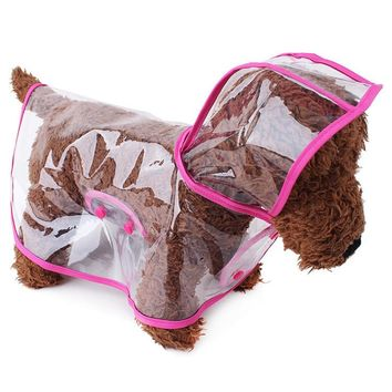 Waterproof Raincoat Jacket For Puppy (Size Small)