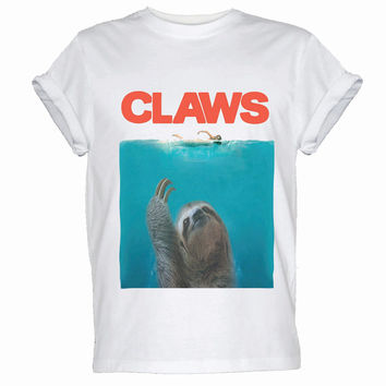 Sloth Claws Funny Parody Men's Women's Humorous T-shirt