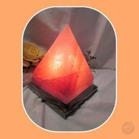 """Soothing & Healing"" Himalayan Rock Salt Pyramid Lamp"