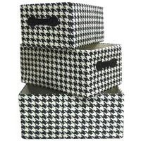 Black & White Houndstooth Basket Set | Shop Hobby Lobby