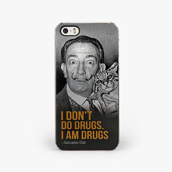 I Don't Do Drugs. I Am Drugs - Salvador Dali iPhone 5/5S Case