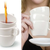INFMETRY:: 3 Cups In One Stacked Mug - HomeDecor