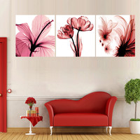 (no Frames) canvas wall picture paintings prints pictures oil triptych painting art home living room decoration maison flowers
