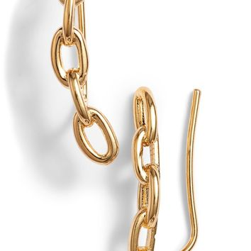 kate spade new york chain reaction link ear crawlers | Nordstrom