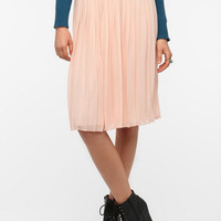 Sparkle & Fade Pleated Chiffon Midi Skirt