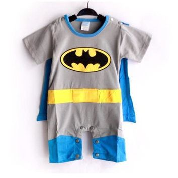 Batman Dark Knight gift Christmas 1 Set Short Sleeve Superman&Batman&Super Girl Baby Romper with Dress Smock Infant Cloak Jumpsuit infant Costume 3 Styles AT_71_6