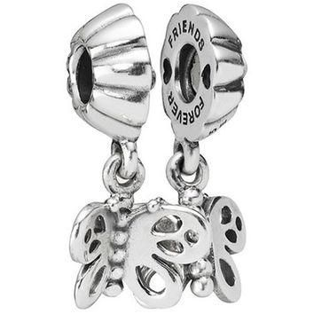 Authentic Pandora Jewelry - Best Friends Forever Butterflies