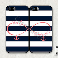 iPhone 5 Case, iPhone Case, iPhone Hard Case, iPhone 5 Cover, Case for iPhone 5, Best Friends, Infinity Anchor