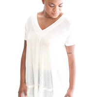 Day Dreamer Top In Ivory