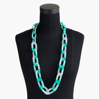 Colorblocked oval link necklace