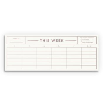 This Weekly Notepad