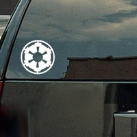 Star Wars Galactic Empire Vinyl Decal - White Window Sticker