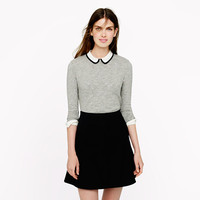 Tipped silk collar top - long-sleeve tees - Women's knits & tees - J.Crew