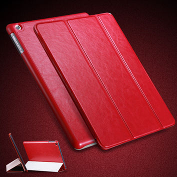 For iPad Air Leather Case 3 Folded Wallet Book Cover For iPad 5 Flip Smart Pouch Bag With Stand Support Full Body Protect Case