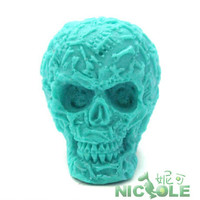 New (1pc/lot) 3D Halloween skull chocolate mould DIY silicone cake molds handmade soap mold pudding jelly candle moulds R1326