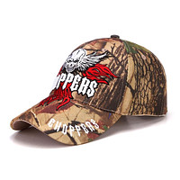 Camouflage Skull Head Embroidery Baseball Cap
