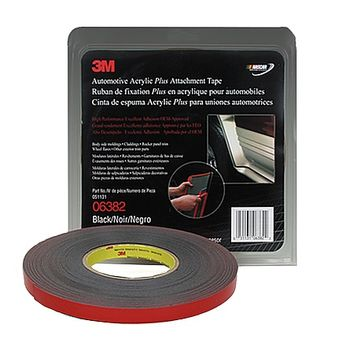 3M Scotch 06382 Automotive Attachment Tape: 1/2 in. x 60 ft. (Black)