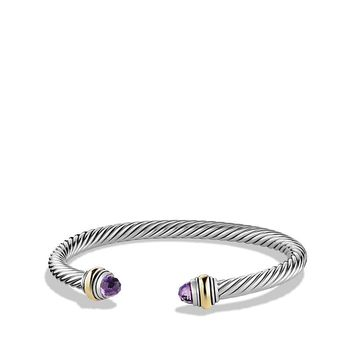 Cable Classic Bracelet with 14K Gold Accent, 5mm