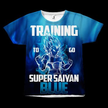 Super Saiyan - Vegeta Training to go super saiyan blue - All Over Print T Shirt - TL00958AO
