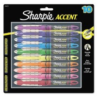 Sharpie Accent Products - Sharpie Accent - Accent Liquid Pen Style Highlighter, Chisel Tip, Assorted, 10/Set - Sold As 1 Set - Features a visible ink supply so you never run out unexpectedly. - Pigmented ink for brilliant color. - Versatile chisel tip is i
