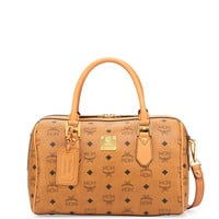 Heritage Boston Satchel Bag, Cognac - MCM
