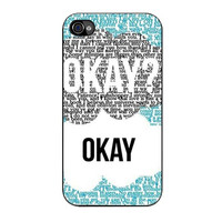 the fault in our stars okay song iPhone 4 4s 5 5s 5c 6 6s plus cases
