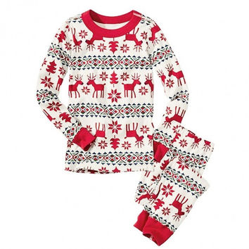 Christmas XMAS Baby Kids Adult Family Pajamas Set Sleepwear Lounge Nightwear