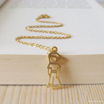 The Little Prince Necklace - Le Petit Prince - Matte Gold Plated