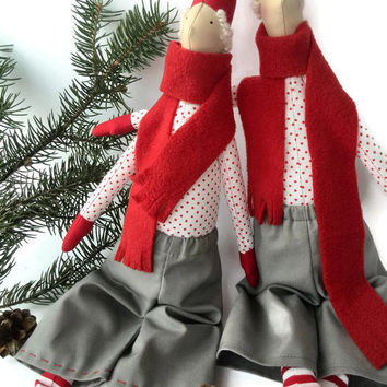 Christmas The Gnomes Christmas decor Tilda dolls  Tilda Christmas  Primitive Christmas Elf New Year decor Scandinavian
