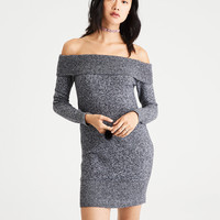 AE Ahh-Mazingly Soft Off-the-Shoulder Sweater Dress, Charcoal