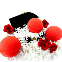 "SET OF 3 ""BLOOD"" Bath Bombs- Gothic Red Bath Bomb! Turn your bath blood red!!!!"