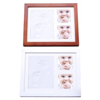 Kids Born Commemorate Pictures Frames Children Growth Record DIYl Collection Imprint Handprint Footprint Photo Picture Frame