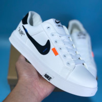 DCCK2 N406 Nike Air Blazer Mid SKY HIGH Off White Leather Casual Skate Shoes White Black