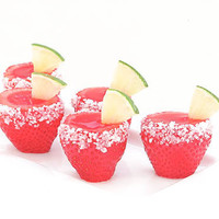 Strawberry Margarita Jell-O Shooters | Bakers Royale