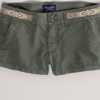 AEO 's Embroidered Shortie (Olive)