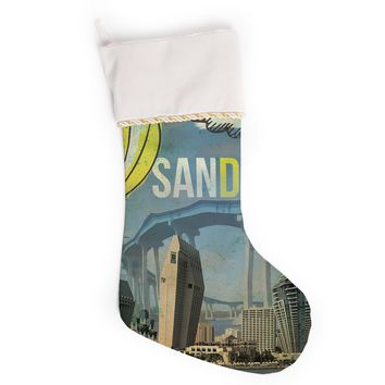 "iRuz33 ""San Diego"" Christmas Stocking"