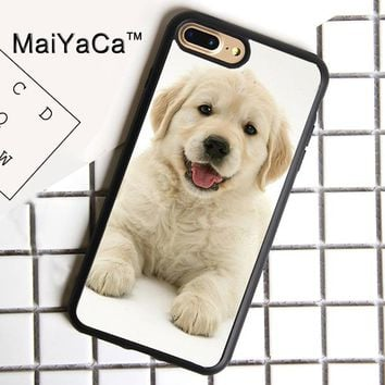 MaiYaCa Cute Labrador Puppy Dog Print Soft Rubber Cover For iPhone 8 Plus Case For Apple iPhone 8plus Phone Cases Shell