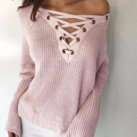Oversized Criss-Cross Jumper