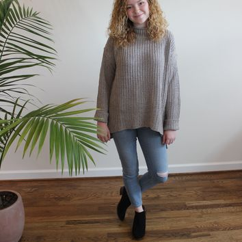 Audrey Mock Neck Chunky Knit Sweater